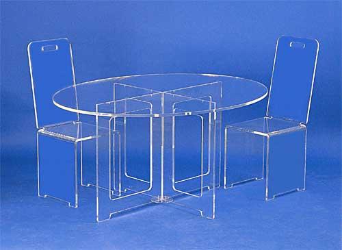 bureaux et tables plexiglas. Black Bedroom Furniture Sets. Home Design Ideas